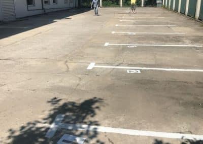 Поддръжка на сгради – разчертаване паркинг